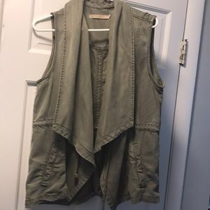 Army green women's vest